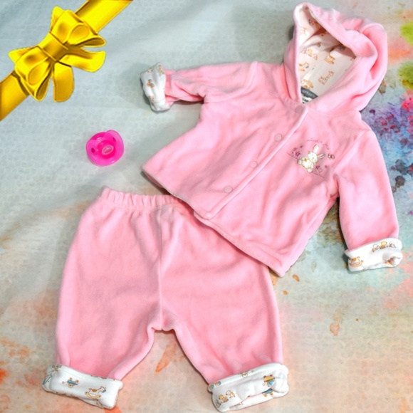 Carter's Other - Carter's Love Me Bunny Hoodie Layette ~0dl06p1a2t